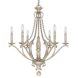 Adele Silvertone Quartz 6-light Chandleier