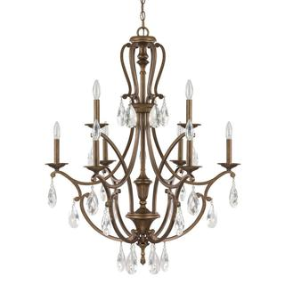Capital Lighting Claybourne Collection 9-light Suede Chandelier