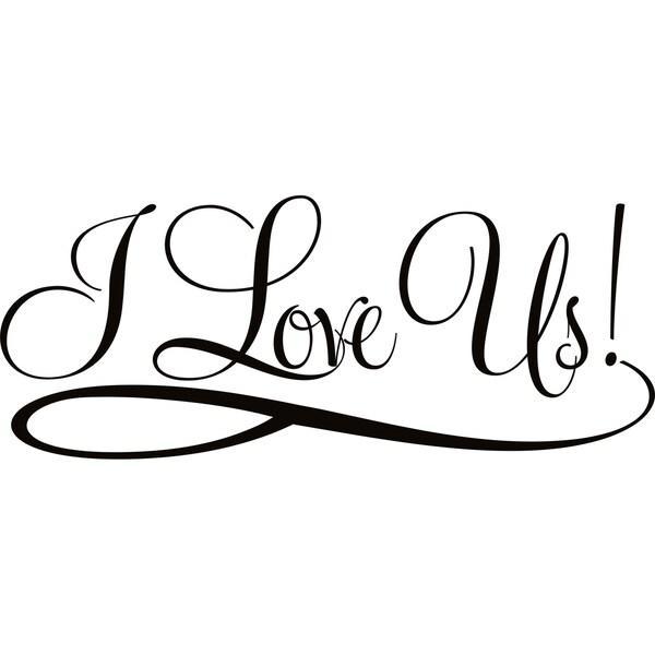 Design on Style 'I Love Us' Vinyl Lettering