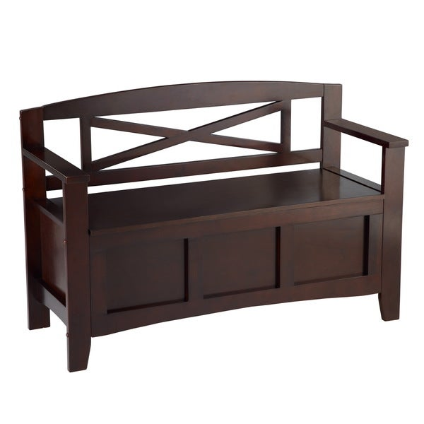 Linon Espresso Crosby Bench Overstock Shopping Great Deals On Linon Benches