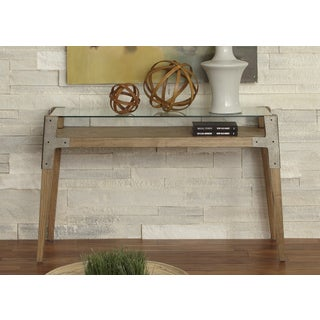 Liberty Contemporary Ash and Glass-top Sofa Table