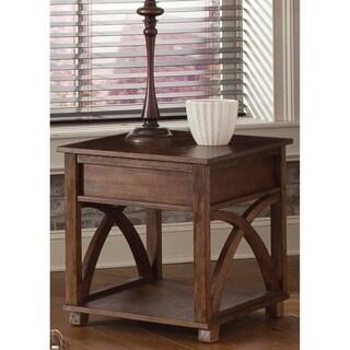 Liberty Oak Hidden Drawer End Table