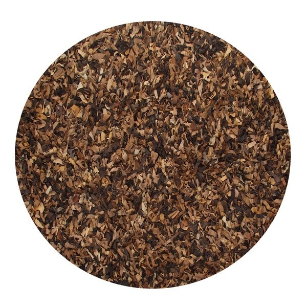 Leather Shaggy Round Brown Tan Area Rug (4.9' Round)