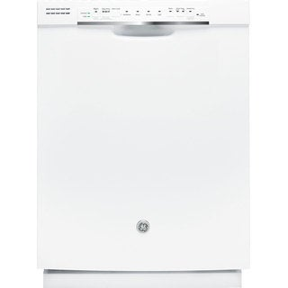 GE Full Console White Dishwasher
