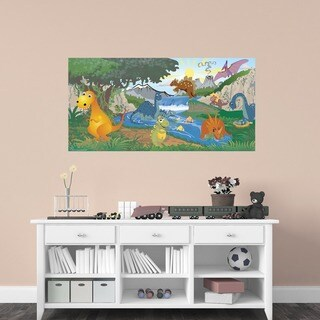 Peel and Stick Dinosaur Mural
