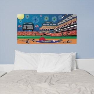 Peel and Stick Baseball Mural