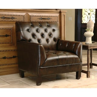 ABBYSON LIVING Alessio Hand-rubbed Bonded Leather Armchair