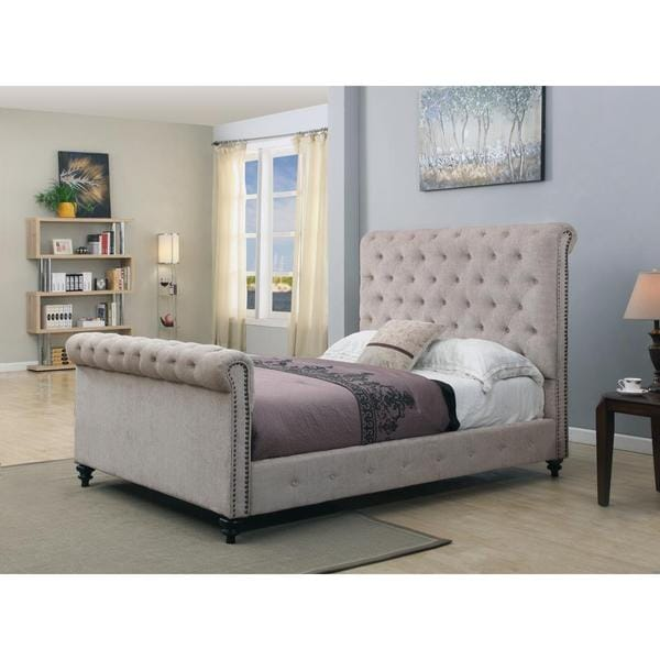 Tufted Upholstered Platform Bed Frame
