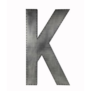 Large 'K' Wood/ Aluminum/ Wood Wall Decor