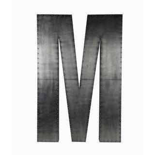 Large 'M' Aluminum/ Wood Wall Decor