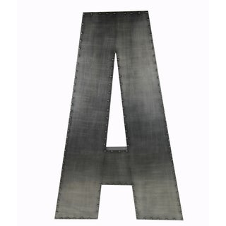 Large 'A' Aluminum/ Wood Wall Decor