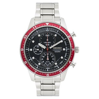 Seiko Men's SNDF37 Chronograph Stainless Steel Watch