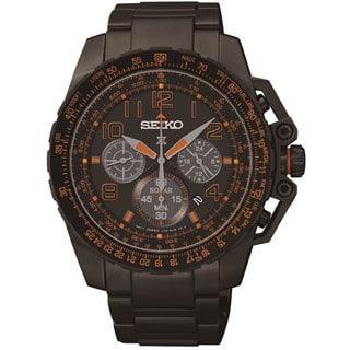 Seiko Men's SSC277 Solar Chronograph Flight Computer Watch