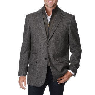 Prontomoda Europa Men's Grey Wool/ Cashmere Sportcoat