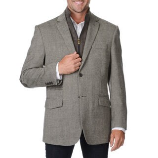 Prontomoda Europa Men's Light Grey Wool/ Cashmere Sportcoat