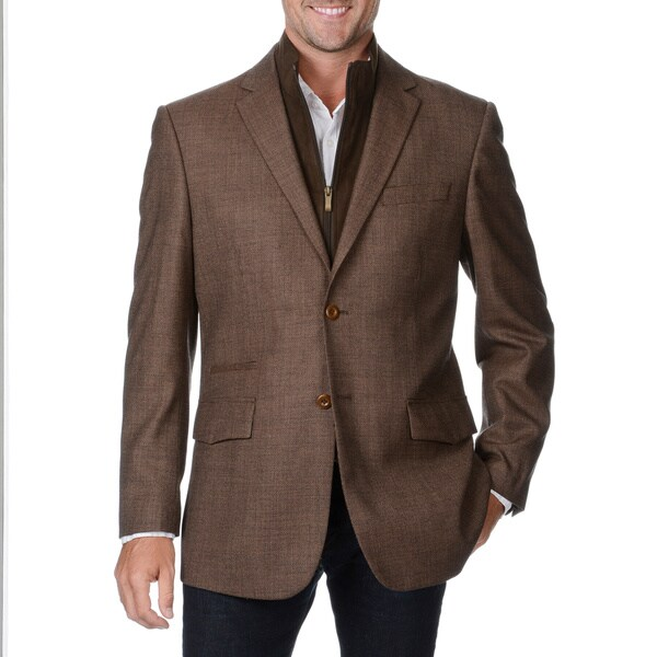 Prontomoda Europa Men's Light Brown Wool/ Cashmere Sportcoat