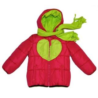 Mint Girl Infant-size Fuschia/ Lime Heart Bubble Jacket