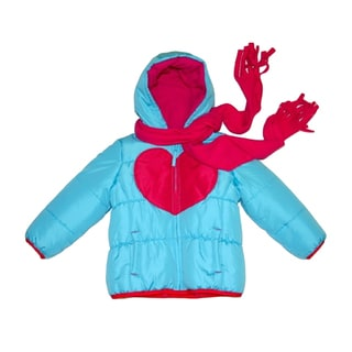 Mint Girls Toddler Turquoise/ Fuchsia Heart Jacket (2T-4T)