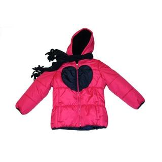 Mint Girl Toddler Girls Fuchsia/ Navy Heart Jacket (2T-4T)