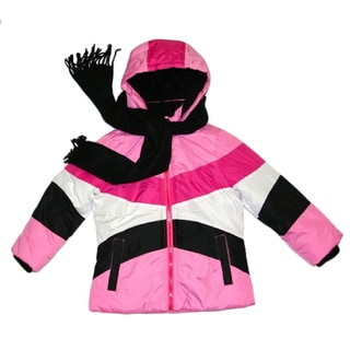 Mint Girl Toddler Pink Colorblocked Bubble Jacket (2T-4T)