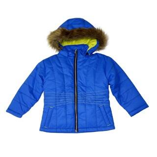 Mint Girls Bright Cobalt Bubble Jacket (Sizes 4-6X)