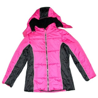 Mint Girls Fuchsia Bubble Jacket (Sizes 7-16)