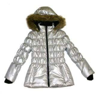 Mint Girls Soft Silver Fashion Jacket (Sizes 7-16)