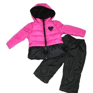 Mint Girl Toddler Fuchsia Two-piece Snowsuit