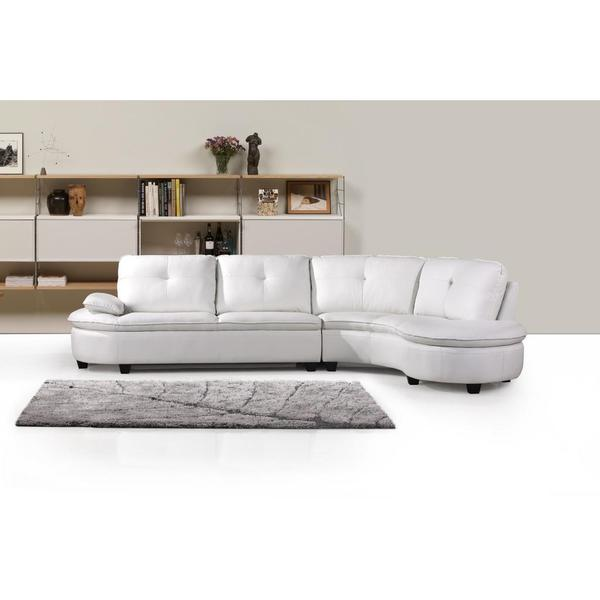 Abigal White Sectional Set