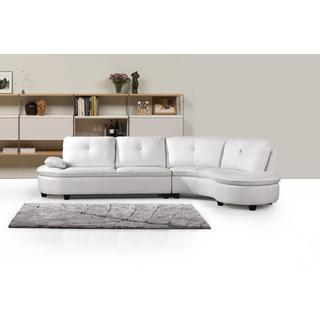Abigal White Bonded Leather Sectional Set