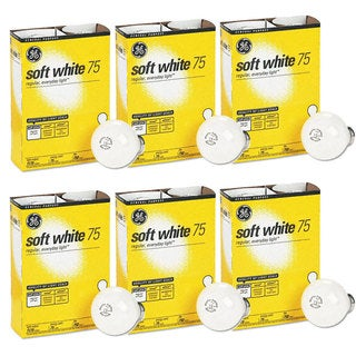 GE 41032-48 75-watt A19 Soft White Light Bulbs 4-pack (Set of 6)