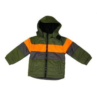 Northpoint Toddler Boys Rifle Green Bubble Jacket