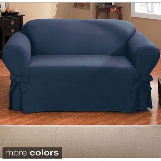 Duck One-piece Relaxed Fit Sofa Slipcover with Arm Ties