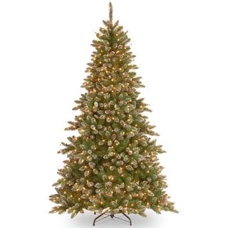 7.5-foot Glittery Mountain Spruce Hinged Tree