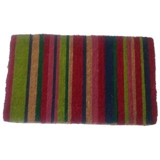 Multicolor Striped Door Mat