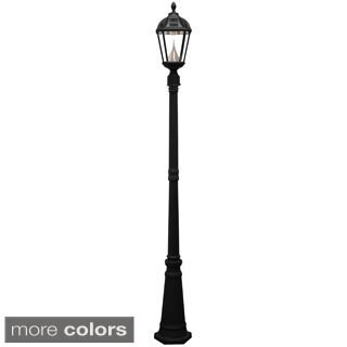 Gama Sonic Royal Weathered Bronze Solar Lamp Post with 7 Bright-White LEDs