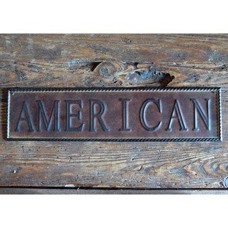 20-inch 'AMERICAN' Sign