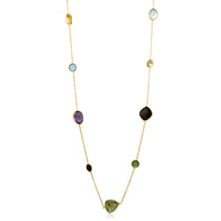 Gioelli 14k Yellow Gold Multi-gemstone Necklace