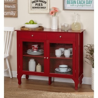 Simple Living Layla Red Buffet