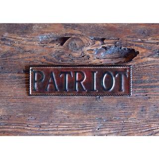 Patriot 10-inch Metal Wall Art