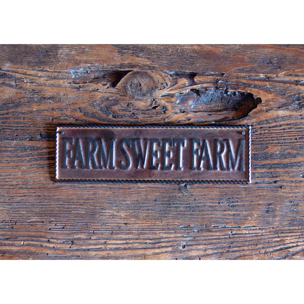 Farm Sweet Farm 10-inch Metal Wall Art Sign