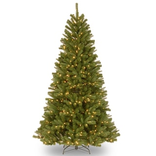 """7.5-foot """"Feel-Real"""" North Valley Spruce Hinged Tree with 550 Clear Lights"""