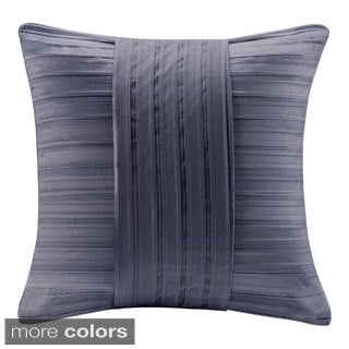 Madison Park Pleated Charmeuse Feather Down Filled Square Pillow
