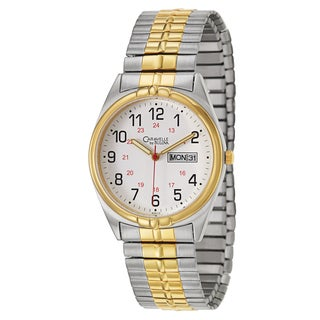 Caravelle by Bulova Men's 'Expansion' Stainless Steel and Yellow Goldplated Quartz Watch