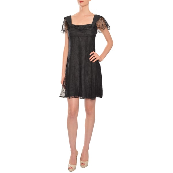 Jill Stuart Women's Black Lace Cocktail Evening Dress