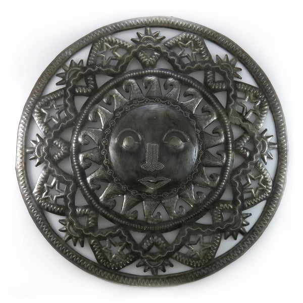 Handcrafted Recycled Steel Drum Solstice Sun Wall Art (Haiti)