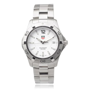 Tag Heuer Men's Stainless Steel 'Aquaracer' Link Watch