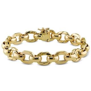 Miadora 14k Yellow Gold Oval Link Bracelet