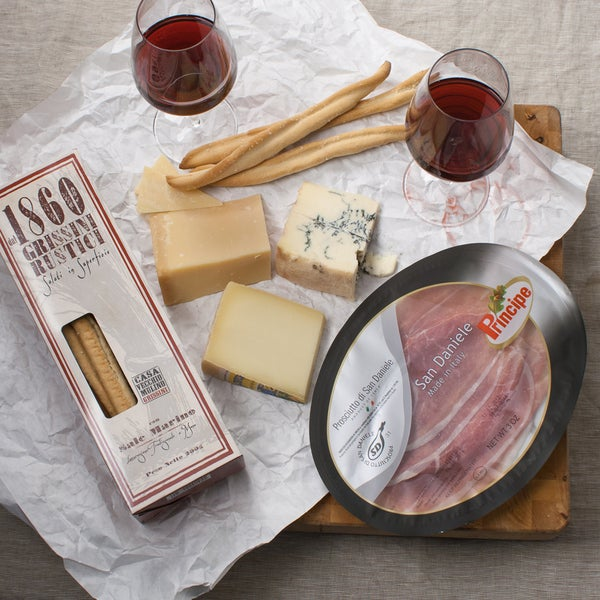 Italian Wine Pairing Gourmet Food Collection