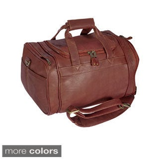 Canyon Outback Vaqueta Full Grain Leather 14-Inch Small Travel Duffel Bag With Pockets